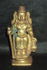 Antique Traditional Indian Ritual Bronze Statue God Shiva YOGI #1