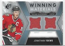 2014 SP Winning Materials jersey hockey card Jonathan Toews Chicago Blackhawks