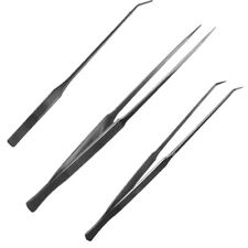 Aquarium Fish Tank Curved Straight Stainless Steel Tweezers