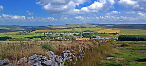 Princetown Dartmoor Devon Photo Canvas 10 x 22 inch panoramic (UK)
