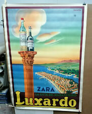AFFICHE ORIGINALE ANCIENNE PUB LUXARDO ZARA MILANO  ITALIE RAVERTA