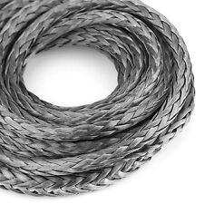 "Hot 3/16"" x 120"" Synthetic Winch Line Cable Rope 5600LBs Protective Sheath Gray"