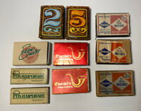 Set Of 10 Vintage Matchbox Matches - Diamond, Churchill's, Etc #178A
