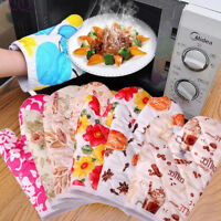 2PCS Woman Kitchen Oven mitten Guante Cocina Silicone Kitchen Gloves For Cooking