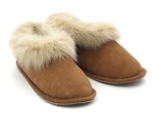 Portuguese Genuine Sheepskin Slippers Leather Soles