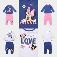 Baby Girls Disney Minnie Mouse Outfit Tshirt Leggings Set Age 3-24 months