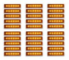30 Stück 24V LED Bernstein Seitenlichter Umriss Marker für Lastwagen Traktor