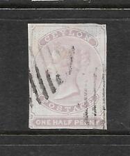 CEYLON 1857-64  1/2d   QV   IMPERF  FU   SG 17
