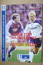 2000 FA Cup Semi Final TIE- BOLTON WANDERERS v ASTON VILLA, 2nd April