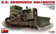 U.S. ARMY ARMORED BULLDOZER MINIART 1/35 PLASTIC KIT