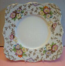 Beautiful Tuscan Fine English Bone China Cake Plate 22cms  Handpainted Flowers