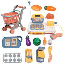 Supermarket Till Kids Cash Register Toy Gift Set Child Girl Shop Role Play Set