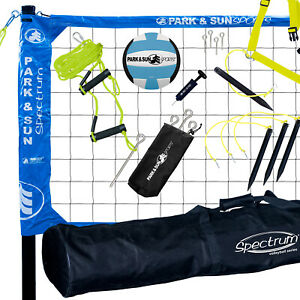 Park & Sun Sports Spectrum Pro Portable Outdoor Tournament Volleyball Net Set