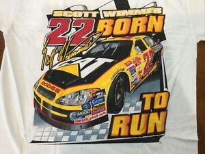 2003 Vintage NASCAR Shirt Caterpillar Racing Scott Wimmer NOS jumbo print XL NWT