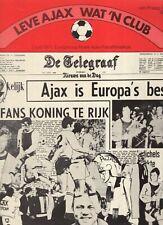 AJAX - PANATHINAIKOS EC FINALE 1971 THEO KOOMENLEVE AJAX WAT EEN CLUB EX+