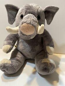 "Build A Bear Elephant Gray Plush Stuffed Animal 12"" St. Louis Zoo Pink Nose"