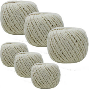 Pack of 9 - 80m Household Home Office Ball Of Cotton String Twine Rope