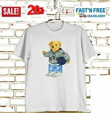 HOT SALE-NWT Polo-Ralph Lauren-Polo Basketball Bear T-Shirt White Size S-3XL NEW