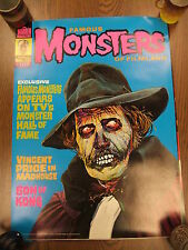 Famous Monsters 109 1974 Vincent Price Madhouse Cover Poster 20 x 27 Warren NICE