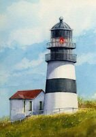 Cape Disappointment Lighthouse Columbia River Washington. Gerald Hill Art Prints