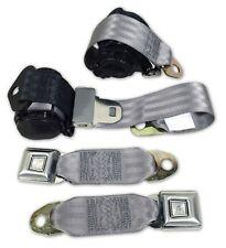 74-77 Corvette Gray Lap & Shoulder Seat Belts NEW Single Retractor 43187