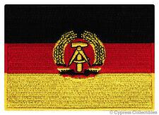 EAST GERMANY FLAG embroidered iron-on PATCH EMBLEM GERMAN Aufnäher Deutschland
