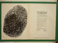 6/1983 PUB IBM PERSONAL COMPUTER PC ORDINATEUR EMPREINTE DIGITALE ORIGINAL AD