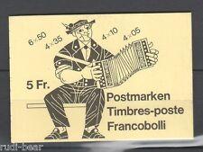 Schweiz Markenheft Nr. 72 gest. mit teilgezähnte Freimarken