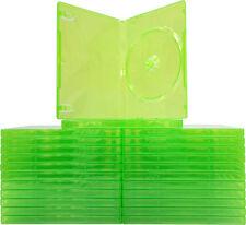 (25) VGBR14XBOX Xbox 360 Translucent GREEN Empty Game Boxes Cases X-Box Disc NEW