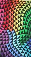 Colorworks Concepts Rainbow Triangle Wave Northcott Fabric Panel