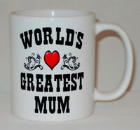 World's Greatest Mum Mug Can Personalise Great Mother's Day Mummy Birthday Gift