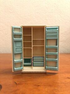 "Vintage TOMY Refrigerator Dollhouse Miniature  Drawers Kitchen 4"" x2.25"" Japan"