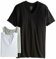 Calvin Klein Men's Cotton Classics Short Sleeve V-Neck, Multi, Size Small Fr1f
