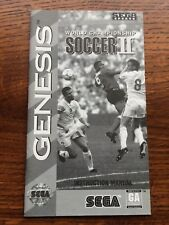 World Championship Soccer II 2 Sega Genesis Game Instruction Manual Only