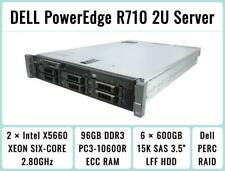 Dell PowerEdge R710 Server 2×Six-Core Xeon 2.8Ghz + 96Gb Ram + 6×600Gb 15K Sas