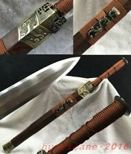 """Top Quality Sharp Pattern Steel Blade Chinese Sword """"Han Jian"""" Alloy Fittings#93"""