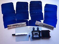 38 2.5x5 SUNPOWER FLEXIBLE Solar Cell DIY 60 wt KIT wires,flux pen,j-box,solder