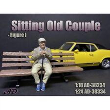 American Diorama 38234 Sitting old man sitzender alter Mann 1:18 Figur 1/1000