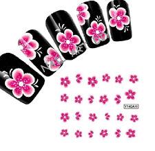 Tattoo Adesivi RICOSTRUZIONE Unghie-20 Fiori Nail Art Water Transfer Stickers!!!