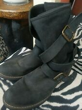 Sam Edelman Brewzzer Boot Womens Size 8 Washed Black Leather