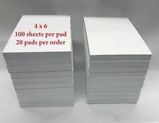 """Note / Scratch Pads-  4"""" X 6"""" - 100 Sheets Per Pad  - 20Pads"""