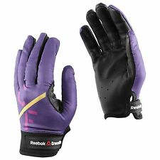 GY BNWT Women's Reebok Crossfit Power Lifting Gloves Leather Purple L Large