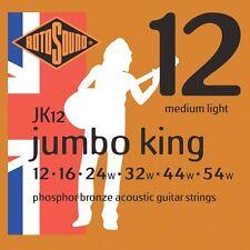 1 Set Rotosound JK12 media luz Jumbo King cuerdas acústica de bronce fosforoso