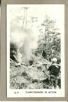 Postcard WWII ? Military Flamethrowers in Action Soldiers War 1972M