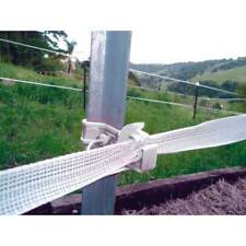 Snap Stay WHITE Steel Post Electric Fence Insulators 25 Pack