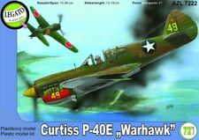 Curtiss P-40E Warhawk, plastic model kit 1/72 AZ Model Legato AZL 7222