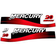 Mercury 20 outboard (1999-2004) decal aufkleber adesivo sticker set