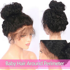 Curly Wig Glueless Front Lace Wigs Black Women Indian Remy Human Wig US
