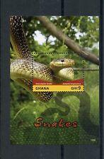 Ghana 2015 MNH Snakes 1v S/S II Aesculapian Snake Reptiles