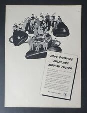 Original Print Ad 1947 BELL TELEPHONE SYSTEM Vintage Art